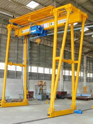 4 เครนสนามแบบขาสูง2ข้าง ชนิดคานเดี่ยว Gantry crane of Single girder
