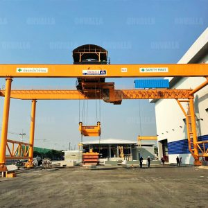 5 เครนสนามแบบขาสูง2ข้าง ชนิดคานคู่ Gantry crane of Double girder