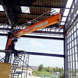7 เครนติดผนังยืน แขนหมุน Wall Jib crane
