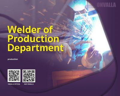 Welder of production department