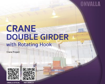 Crane Double Girder with Rotating Hook